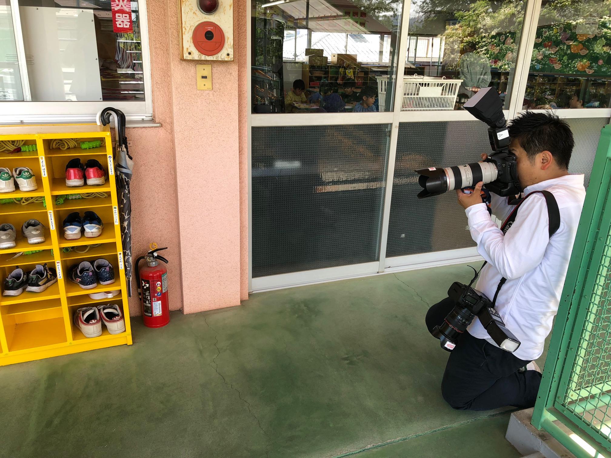 撮影に行ってきました!プロカメラマン川窪さん編【IN国立ふたば幼稚園様】