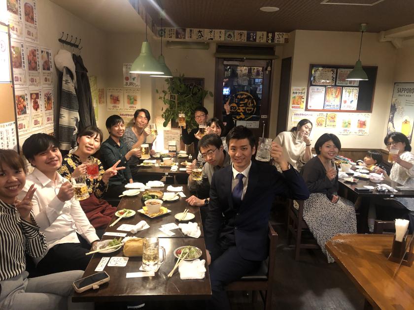 【歓迎会】期待の新人、入りました (^-^)V